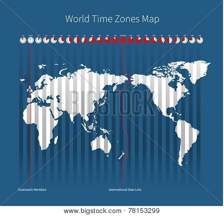 World Time Zones Map