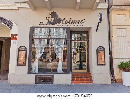 Sherlock Holmes Bistro & Pub In Lodz, Poland