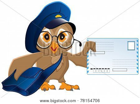 Owl postman brought a letter