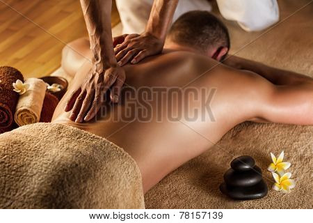 Deep tissue massage.