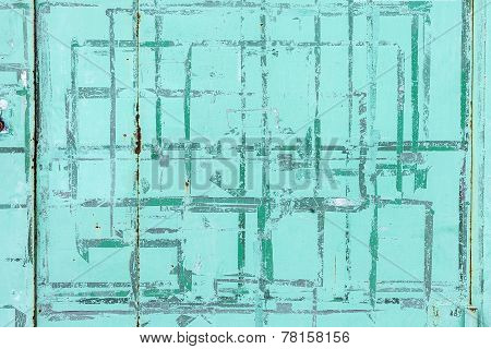 Grungy Green concrete wall background