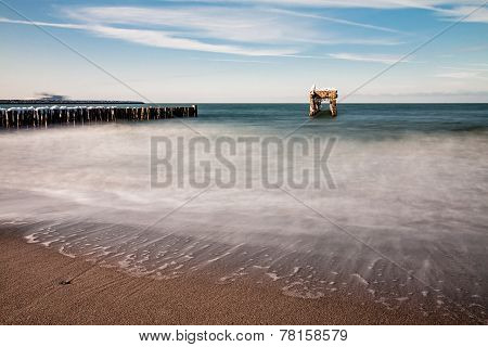Groyne And Jetty Ruin