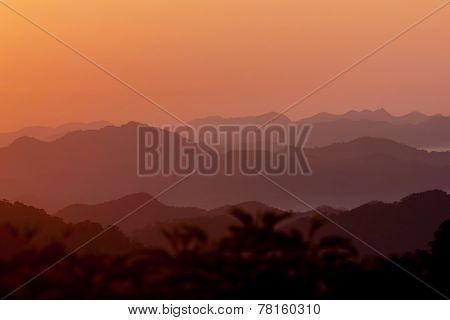 Morning Mountains In Thailand