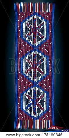 Romanian Traditional Wool Hand Woven Motif