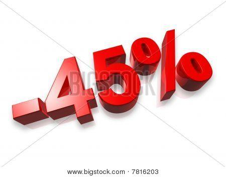 45% Forty Five Percent