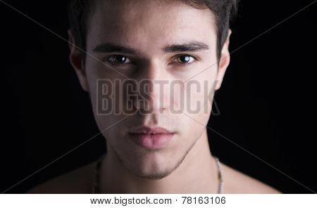 Closeup Headshot Of Handsome Young Man