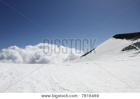 Clouds On Volcano Mount Etna