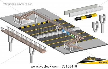 Pedestrian Highway Bridge