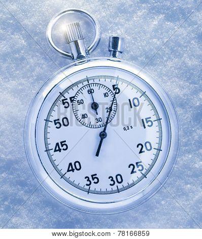 Stopwatch On Snow