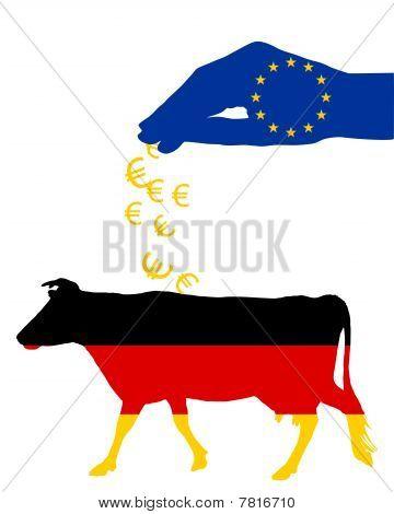 German Cow And European Subsidies