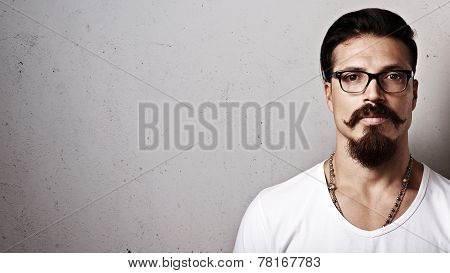 Hipster Guy Wearing Eyeglasses