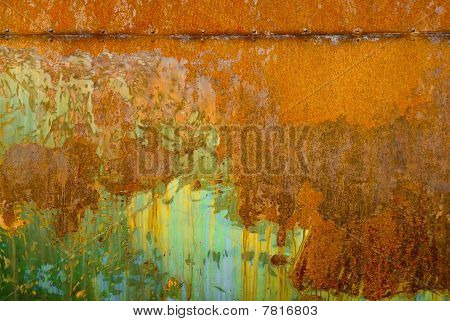 Colorful Rust Structures On An Steam Engine