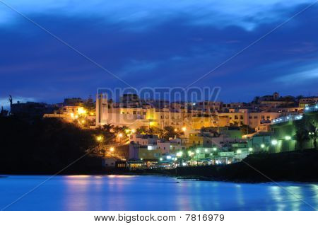 Town Morro Jable At Night