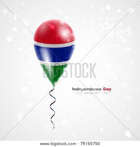 Flag of Gambia on balloon