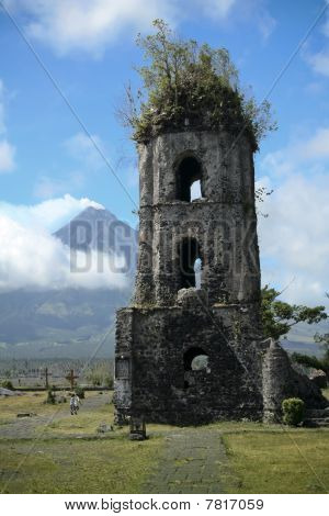 Mayon Volcano Church Ruins