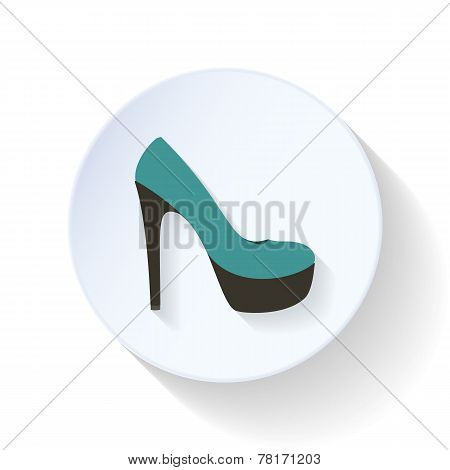 High-heeled Shoes Flat Icon