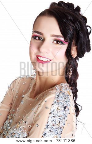 Young Attractive Woman With An Evening Makeup