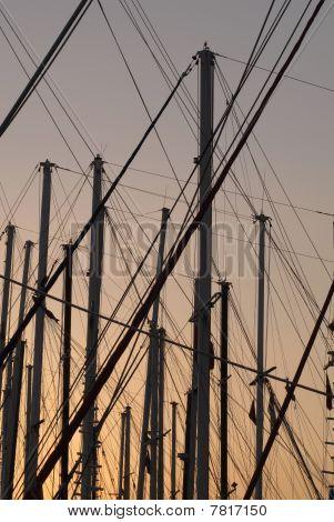 mast of sailboat