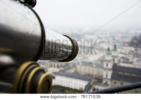 Telescopic View Over Salzburg