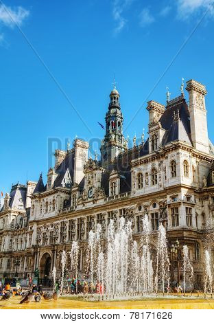City Hall Building (hotel De Ville) In Paris, France