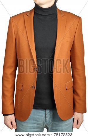 Orange Jacket Suit For Men.