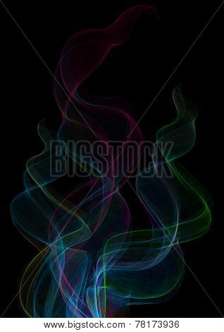 Colorful Smoke Clouds