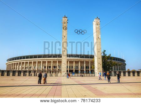 Olimpic Stadium Exterior In Berlin, Germany