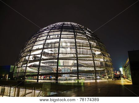 Reichstag Dome In Berlin, Germany