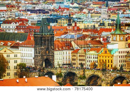Charles Bridge Aerial View