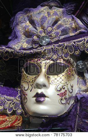 Violet Venice Carnival Mask