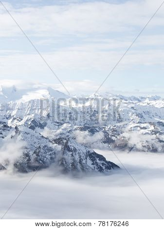 Glacier In The Alps Vertical