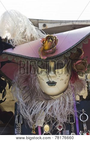 Typical Venetian Carnival Mask