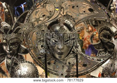 Venice Carnival mask, Moon shaped