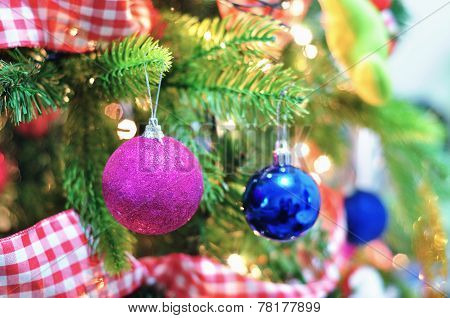 Christmas Ball On The Christmas Tree