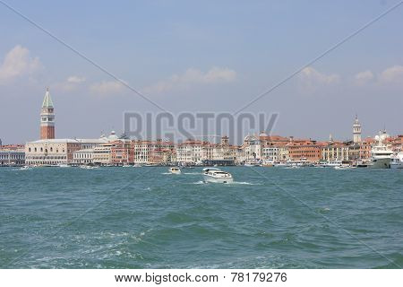 Venice Panoramic View From The Boat