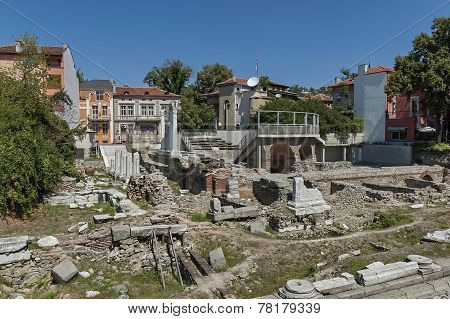 The ancient stadium Philipopolis in Plovdiv, Bulgaria