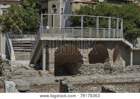 The ancient stadium Philipopolis in Plovdiv, Bulgaria.