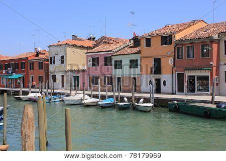 Murano colored houses