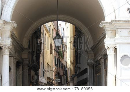 Architectural Detail Of The Arch In St. Mark Square