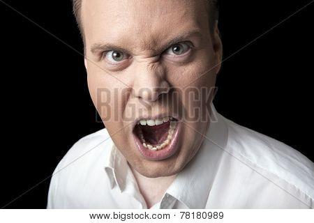 Face Screaming Men