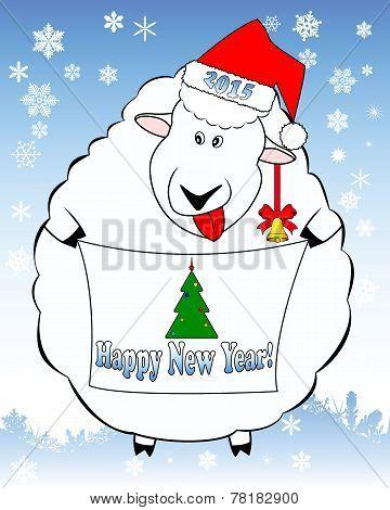 Holiday Illustration Lamb