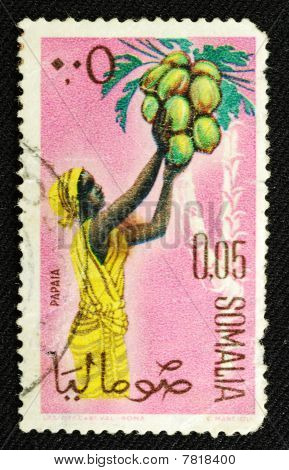 Old Stamp From Somalia