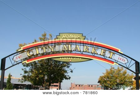 City Market Sign