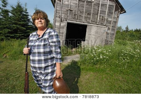 Redneck Woman With Gun