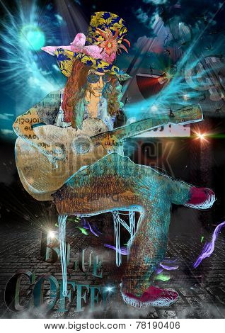 Musician: Guitar Player (Mixed Media)