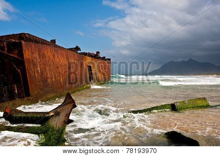 Rusted Shipwreck