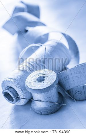 Sewing Items And Meter