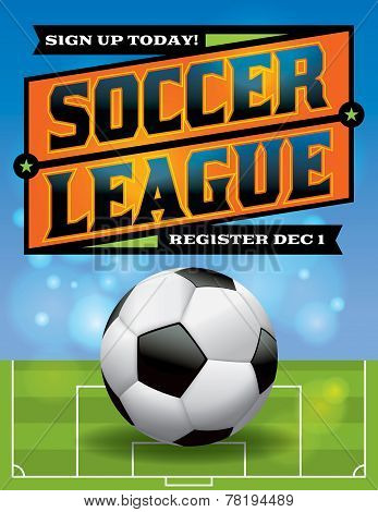 Soccer League Flyer Illustration