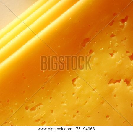 Slices Of Fresh Cheese