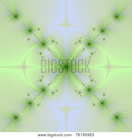 Pale Green And Blue Floral Cross
